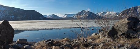 Mountain spring panorama Stock Images