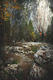 Mountain spring/river during autumn Stock Photos
