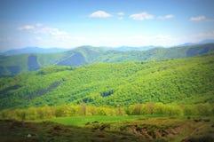 Mountain at spring. Scenic view of Bulgarian springtime Balkan mountain ridges(Stara Planina Royalty Free Stock Photos