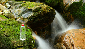 Mountain spring water Royalty Free Stock Images