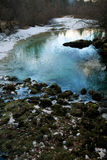 Mountain spring in winter Stock Photos