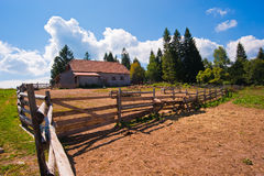 Mountain stables agriculture nature Royalty Free Stock Image