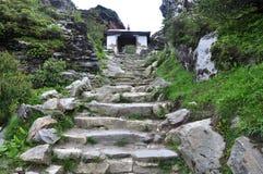 Mountain staircase Stock Photo