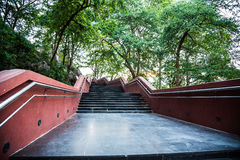 Mountain stairs in Thai temple Stock Photography