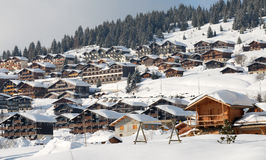 Mountain station in alps Royalty Free Stock Image