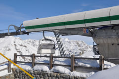 Mountain station of chairlift Royalty Free Stock Image
