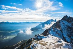 Free Mountain Station Of Hafelekar And Seegrube Cable Railway At Innsbruck, Austria Royalty Free Stock Photos - 143786078