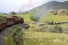 Mountain steam railway Stock Photos