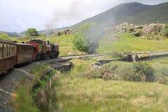 Mountain steam railway stock photos