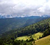 Mountain steep slope Stock Photography