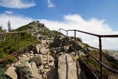 Mountain steps Royalty Free Stock Photos