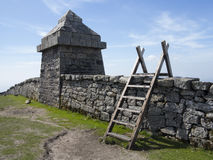 Mountain stile. Stile over the mourne wall at slieve meelmore Royalty Free Stock Images