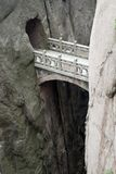 Mountain stone bridge, Huangshan, China Royalty Free Stock Images