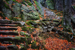 Mountain Stone Stairs Stock Images