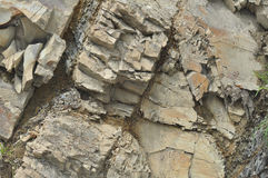 Mountain stones. Large stones in mountains cracked Stock Photos