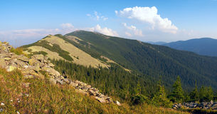 Mountain stony view Royalty Free Stock Images