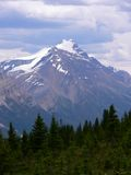 Mountain and Storm Clouds. Storm clouds over mountain in Banff National Park, Alberta, Canada Stock Photos