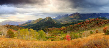 Mountain Stormy Autumn Scene Stock Images