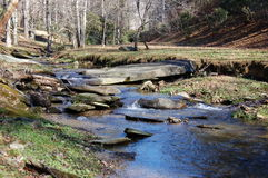 Mountain Stream #1. A peaceful stream flowing through the mountains of North Carolina Royalty Free Stock Photos