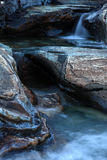 Mountain stream. That erodes the rocks Stock Photos