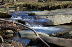 Mountain Stream #2. A peaceful stream flowing through the mountains of North Carolina Stock Photography
