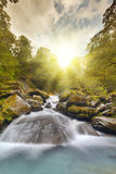 Mountain Stream. A mountain stream at sunset in the mountains of New Zealand Stock Photos