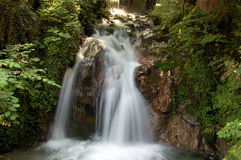 Mountain stream. A little waterfall from a mountain stream Stock Images