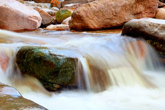 Mountain stream. The flow of water in a mountain stream Stock Photo