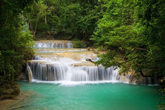 Mountain Stream. In tropical forest, Erawan National Park, Thailand Royalty Free Stock Image