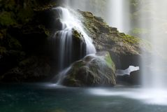 Mountain stream. Water washing over rocks in a mountain stream Stock Images