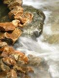 Mountain stream. Vertical close up Royalty Free Stock Photos