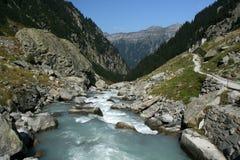 Mountain stream in Alps Royalty Free Stock Photos