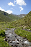 Mountain stream in the Alps Royalty Free Stock Photography