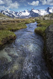 Mountain stream in the alps, Italy Royalty Free Stock Photo