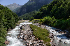 Mountain stream in the Alps Stock Photo