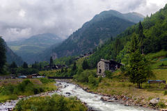 Mountain stream in the Alps Royalty Free Stock Photos