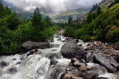Mountain stream in the Alps Royalty Free Stock Images