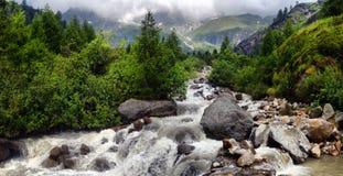 Mountain stream in the Alps Stock Photos