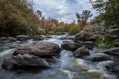 Mountain stream _ autumn scene Royalty Free Stock Photos