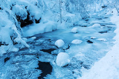 Mountain stream Bayehon in the High Vens Stock Images