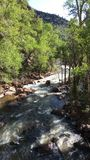 Mountain Stream. Blue Sky, Outdoors, Mountain Stream, No people, Colorado, Natural beauty, Rocks in Stream Stock Photos