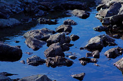 Mountain stream in blue Stock Photography