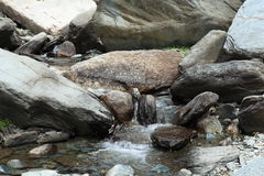 Mountain stream in Dharamsala Royalty Free Stock Photography