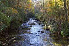 Mountain Stream in the Fall. Shinny Creek at South Mountains State Park royalty free stock photo