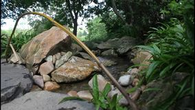 Mountain stream. Flowing over rocks stock video footage