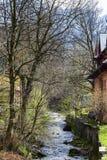 Mountain stream flows across Zakopane Stock Image