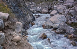 Mountain stream. A mountain stream flows along the gorge of the river Big Almaty Stock Photography