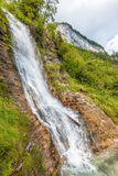 Mountain stream forms a waterfall Stock Images