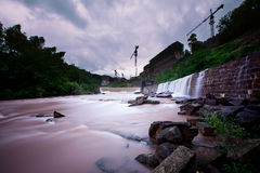 The mountain stream 1. On the Harmonious Development of human life and  water resources utilization Stock Image