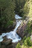 Mountain stream in High Tatras, Slovakia. View of Mountain stream in High Tatras, Slovakia Royalty Free Stock Photos